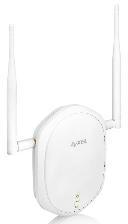 Точка доступа Zyxel NWA1100-NH Wi-Fi 802.11b/g/n повышенного радиуса действия с внешними съёмными антеннами, поддержкой режимов репитера