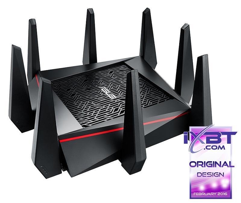 Маршрутизатор ASUS RT-AC5300 Трехдиапазонный маршрутизатор с поддержкой Wi-Fi 802.11ac до 5334 Мбит/с