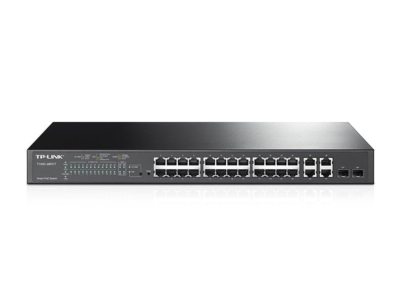 Коммутатор TP-LINK T1500-28PCT Smart коммутатор PoE+ на 24 порта 10/100 Мбит/с и 4 гигабитных порта