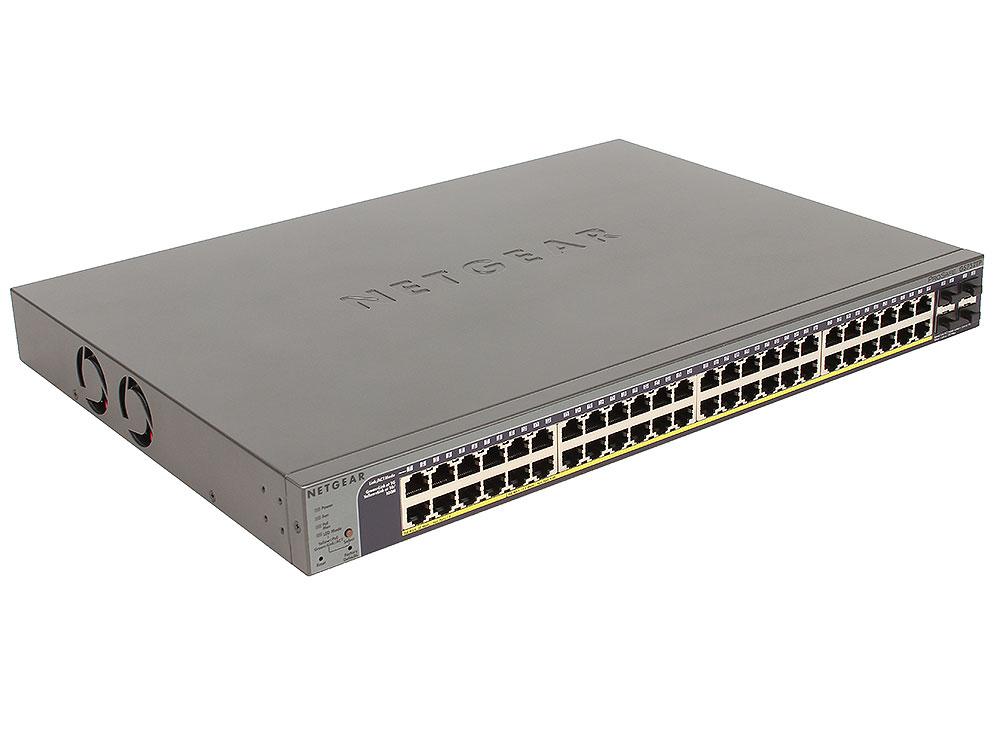 Коммутатор NETGEAR GS752TP-100EUS Управляемый гигабитный Smart-коммутатор на 52 порта коммутатор netgear gss108epp 100eus