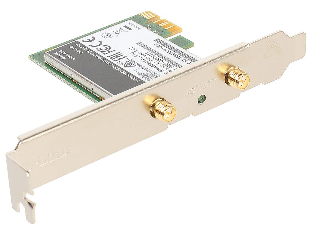 Адаптер D-Link DWA-582/A1A Беспроводной двухдиапазонный PCI Express адаптер AC120