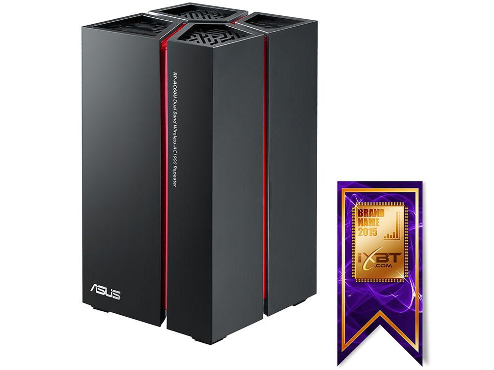 Усилитель Wi-Fi сигнала ASUS RP-AC68U Беспроводной повторитель стандарта Wi-Fi 802.11ac 1900 Мбит/с 24a усилитель повторитель сигнала extend led 5050 3528 rgb полосы света
