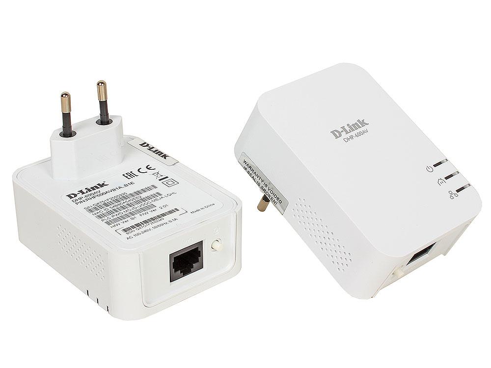 Адаптер PowerLine D-Link DHP-601AV/B1A Комплект из двух PowerLine-адаптеров DHP-600AV