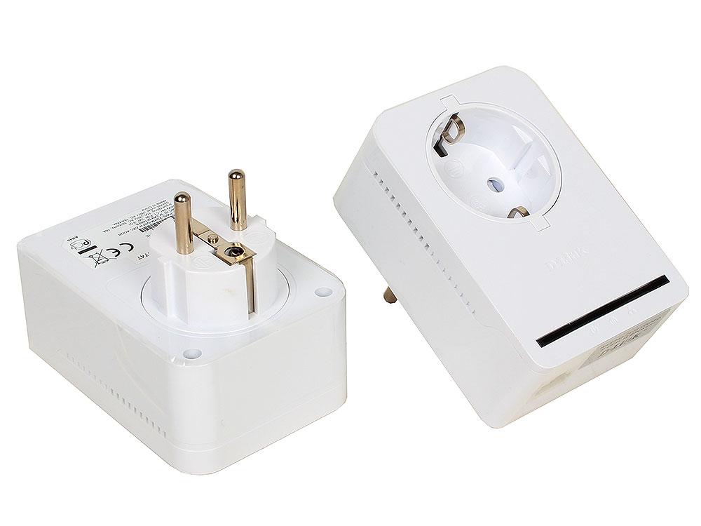 Адаптер PowerLine D-Link DHP-P309AV/C1A Комплект из двух PowerLine-адаптеров DHP-P308AV