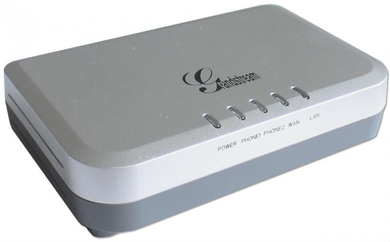 Шлюз VoIP Grandstream HT502 2xFXS 2xLAN 10/100Мб/с SIP БП
