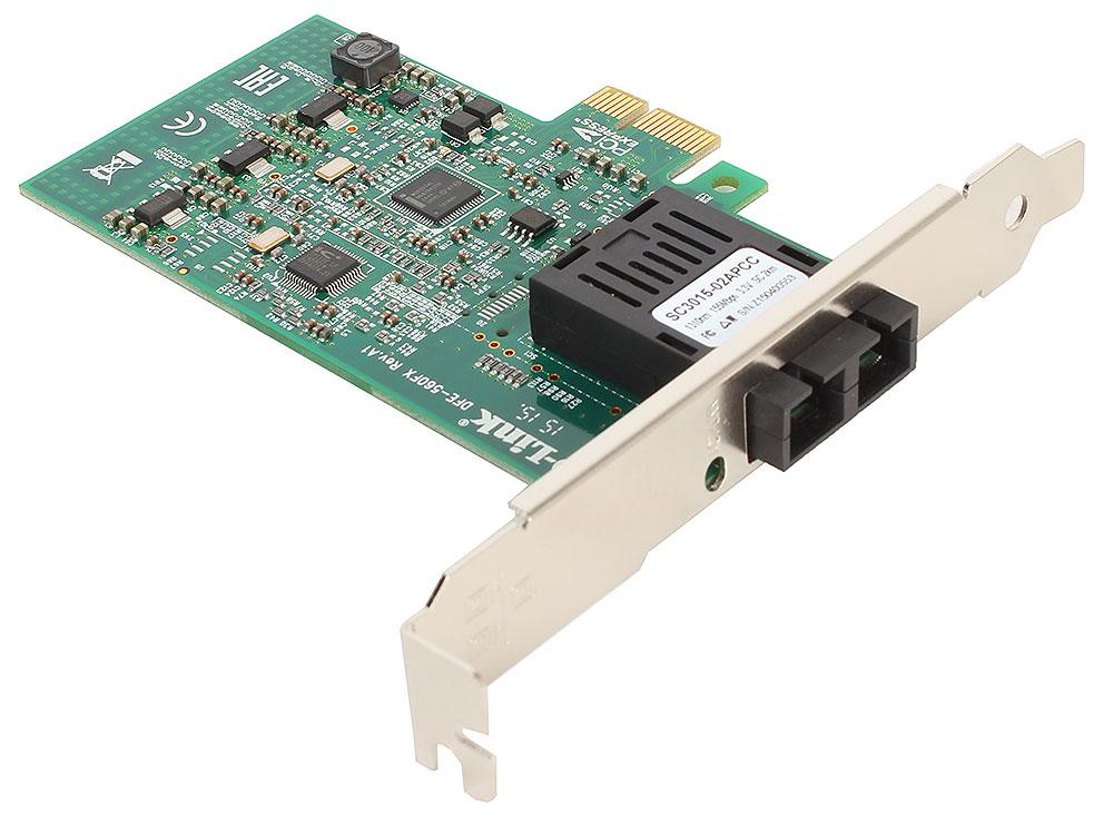 Сетевой адаптер D-Link DFE-560FX/A1A Сетевой адаптер 100Base-FX с оптическим SC-разъемом для шины PCI Express biaze ethernet конвертер тип c в rj45 проводной сетевой порт свободный привод сетевой адаптер адаптер адаптер адаптер для ноутбука apple macbook zh18 pc