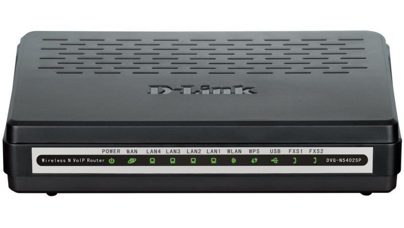 Маршрутизатор D-Link DVG-N5402SP/2S1U/C1B Беспроводной маршрутизатор с поддержкой 3G, 2 FXS-портами и USB-портом