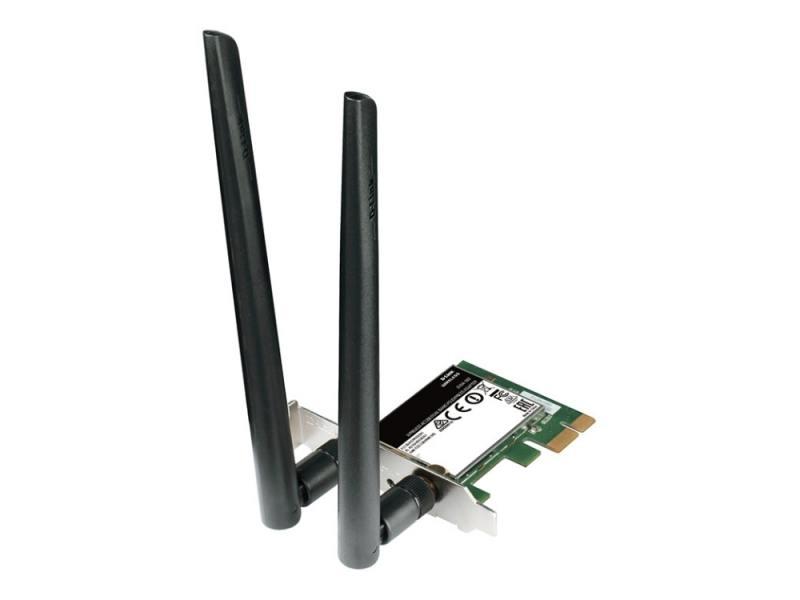 Беспроводной Wi-Fi адаптер D-LINK DWA-582/RU/A1A 802.11acbgn, 867Mbps, 2.4/5GHz, PCI-E pci e to