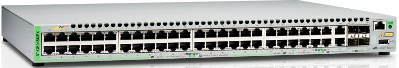 Коммутатор Allied Telesis AT-GS948MPX-50 управляемый 48 портов 10/100/1000Mbps 2xSFP коммутатор allied telesis at gs924m 50 20g управляемый