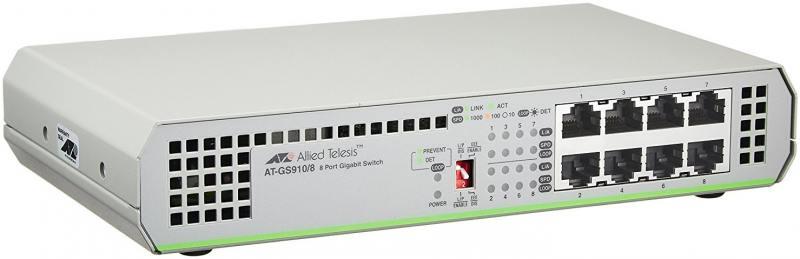 Коммутатор Allied Telesis AT-GS910/8-50 неуправляемый 8 портов 10/100/1000 100 8 mcr100 8 sot89 1a600v