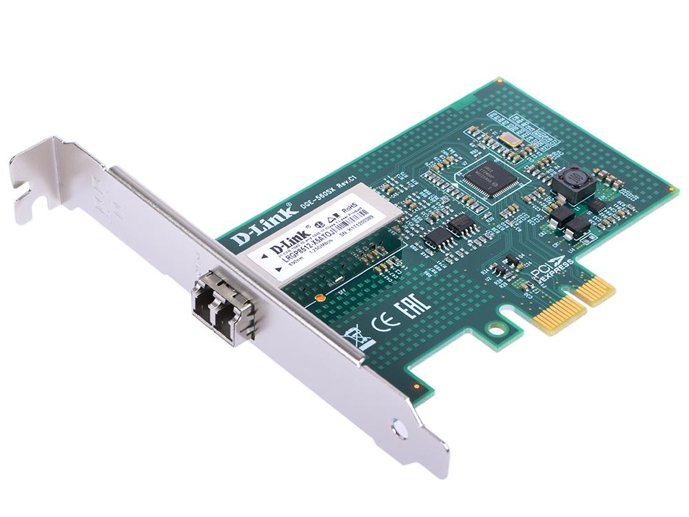 Сетевой адаптер D-LINK DGE-560SX/LC/C1A 10/100/1000Mbps с дуплексным LC-разъемом сетевой адаптер d link dge 560t c1 c1a 10 100 1000mbps pci e ethernet 1xrj 45