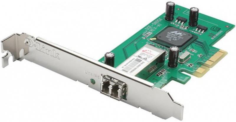 Сетевой адаптер D-LINK DGE-560SX/LC/C1A 10/100/1000Mbps с дуплексным LC-разъемом