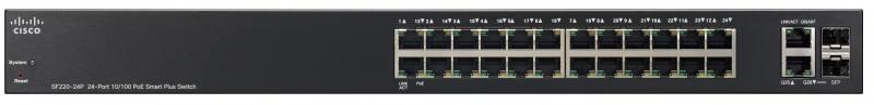 Коммутатор Cisco SF220-24-K9-EU управляемый 24 порта 10/100Mbps коммутатор cisco sb sf220 48p k9 eu управляемый 48 портов 10 100 1000mbps