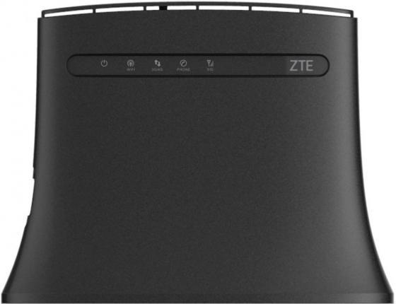 Беспроводной маршрутизатор ZTE MF283 802.11n 300Mbps 2.4 ГГц 4xLAN RJ11 Черный платье sweet miss sweet miss sw014ewbmno7