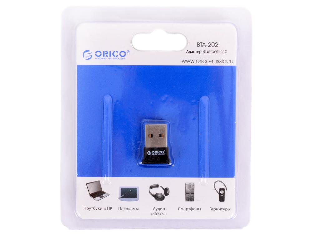 Адаптер USB Bluetooth Orico BTA-202 (черный) USB Bluetooth 2.0