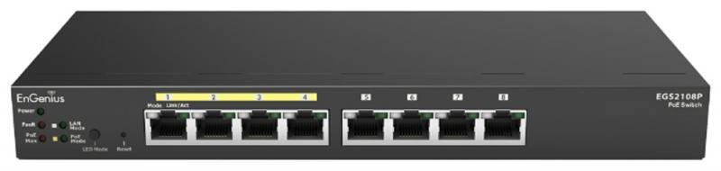 Коммутатор EnGenius EGS2108P управляемый 8 портов 10/100/1000Mbps