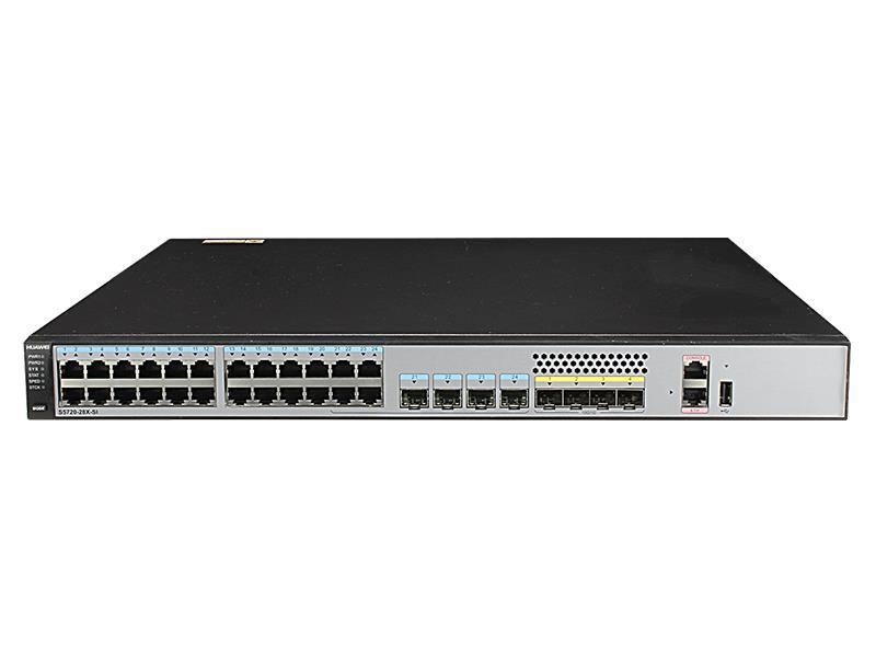 Коммутатор Huawei S5720-28X-PWR-SI-AC 24 порта 10/100/1000Mbps 4xSFP коммутатор huawei s2750 28tp pwr ei ac