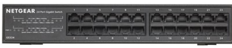 Коммутатор Netgear GS324-100EUS неуправляемый 24 порта 10/100/1000Mbps