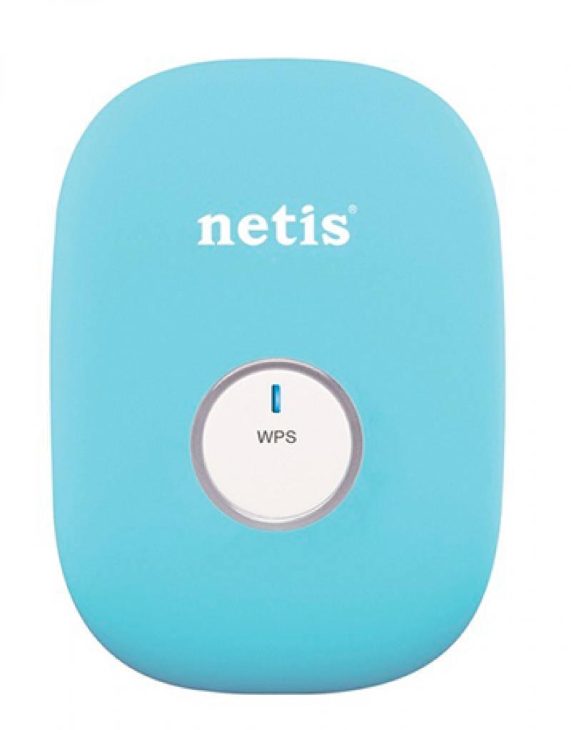 Ретранслятор Netis E1+ 802.11bgn 300Mbps 2.4 ГГц 0xLAN синий