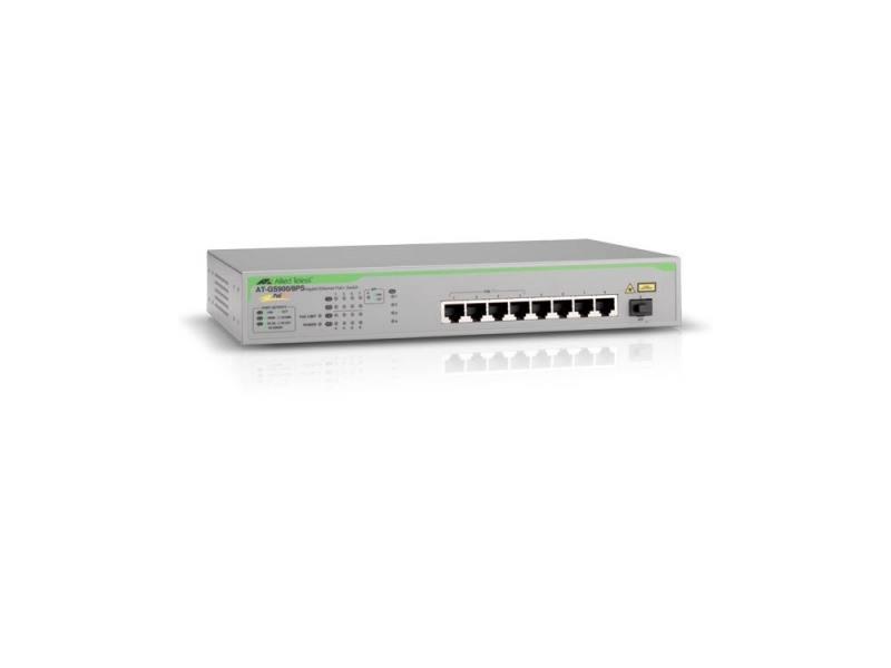 Коммутатор Allied Telesis AT-GS900/8PS-50 неуправляемый 8 портов 10/100/1000Mbps PoE+ 1SFP стоимость