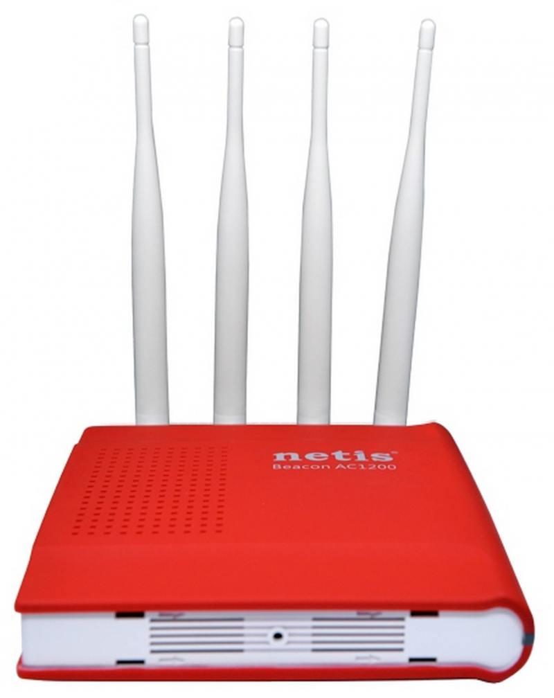 Точка доступа Netis WF2681 802.11ac 1200Mbps 2.4 ГГц 5 ГГц 4xLAN красный
