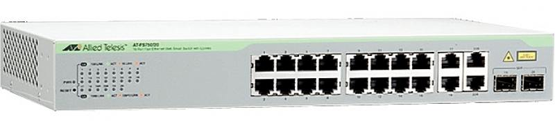 Картинка для Коммутатор Allied Telesis AT-FS750/20-50  неуправляемый 16 портов 10/100/1000Mbps