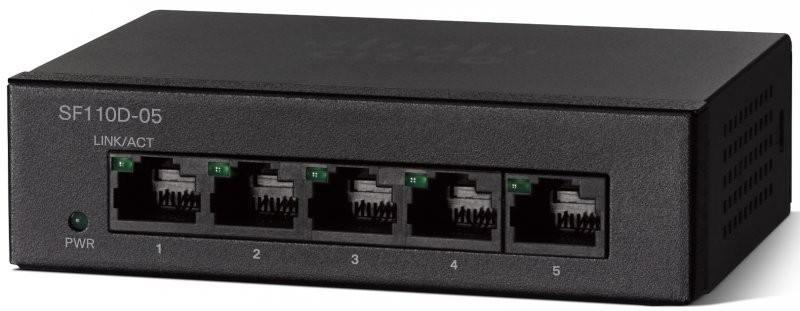 Коммутатор Cisco SF110D-05-EU 5 портов 10/100Mbps коммутатор cisco slm224gt eu