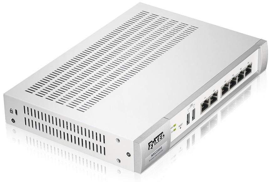 Коммутатор ZyXEL NXC2500 Контроллер беспроводных сетей Wi-Fi с поддержкой до 64 точек доступа, межсетевым экраном и технологией ZyMesh wi fi точка доступа zyxel keenetic iii