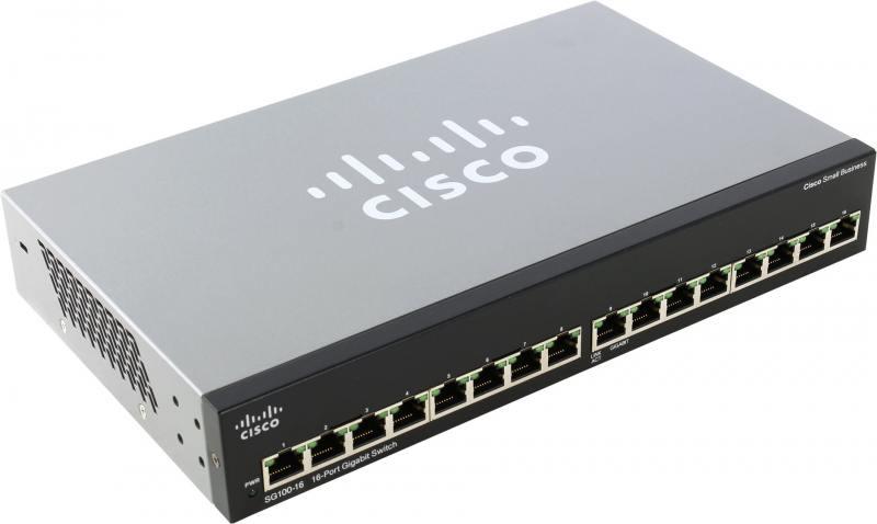 Коммутатор Cisco SG110-16-EU неуправляемый 16 портов 10/100/1000Mbps cisco sf110d 16