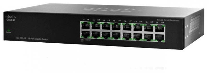 цена Коммутатор Cisco SF110-16-EU неуправляемый 16 портов 10/100Mbps