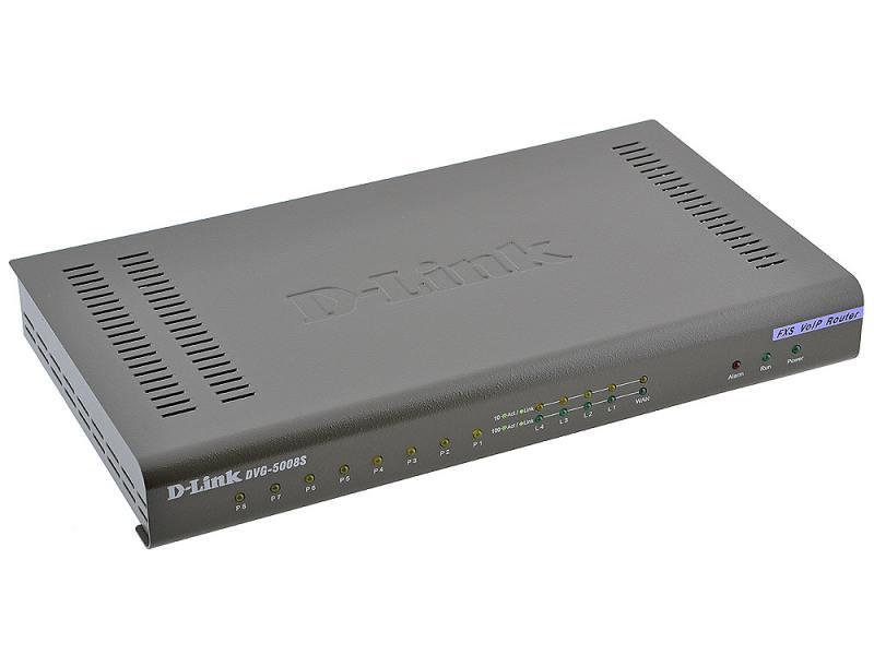 Шлюз VoIP D-Link DVG-5008SG 8xFXS RJ-11 4xLAN 1xWAN SIP