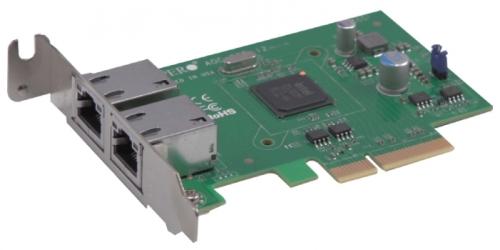 Сетевой адаптер SuperMicro AOC-SGP-I2 10/100/1000 Мбит/c PCI-E 2xRJ-45