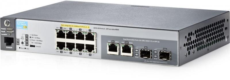 Коммутатор HP 2530-8-PoE+ управляемый 8 портов 10/100/1000Mbps JL070A#ABB коммутатор hp 2530 8 poe j9780a