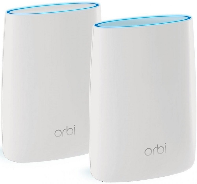 Точка доступа NETGEAR RBK50-100PES Трехдиапазонная беспровобная смарт-система Orbi - KIT (RBR50 + RBS50 ) AC3000, 802.11ac 1733 + 866