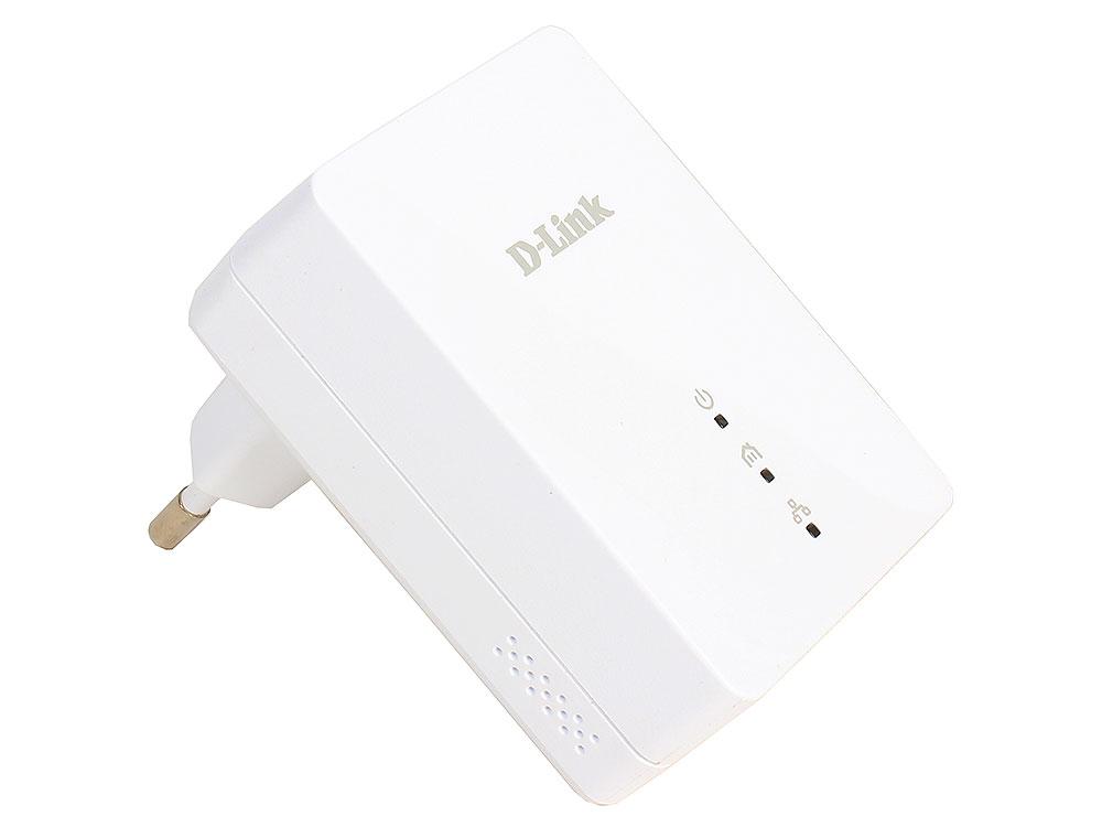 Адаптер PowerLine D-Link  DHP-208AV/B1A PowerLine-адаптер с поддержкой HomePlug AV