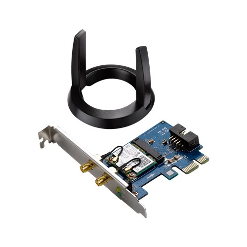 Беспроводная сетевая карта ASUS PCE-AC55BT PCI-E Adapter AC1200, Bluetooth 4.0, 2x ext Antenna