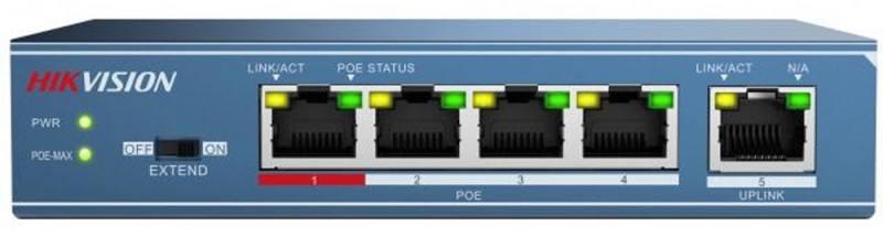 Коммутатор Hikvision DS-3E0105P-E 5-ports 10/100Mbps ideal 0105 без стенда