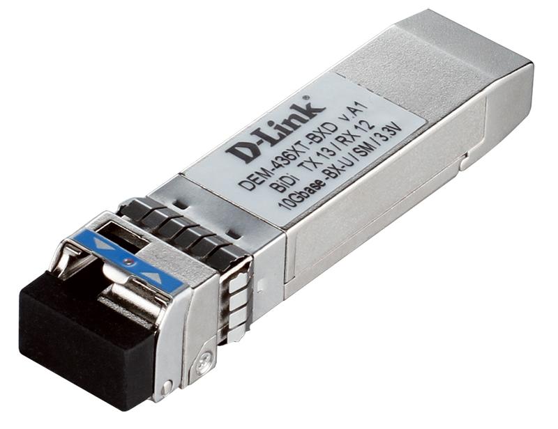 Трансивер сетевой D-Link DEM-436XT-BXD/A1A WDM трансивер SFP+ с 1 портом 10GBase-LR (Tx:1330 нм, Rx:1270 нм) для одномодового оптического кабеля (до 2 от OLDI