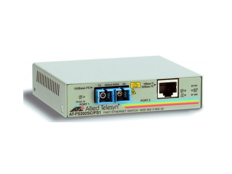 Медиаконвертер Allied Telesis AT-FS202-60 10/100TX RJ-45 to 100FX SC 2 port медиаконвертер allied telesis at fs238a 1 60
