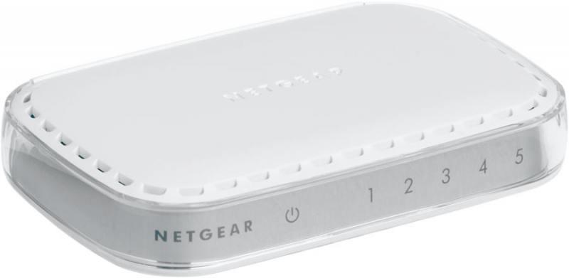 Коммутатор NETGEAR GS605-400PES Коммутатор на 5 портов 10/100/1000 Мбит/с