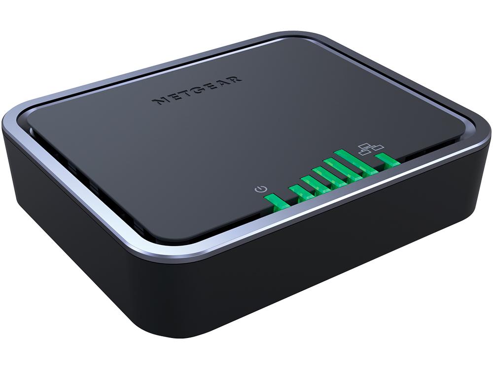 Маршрутизатор NETGEAR LB1111-100EUS 4G LTE-модем, cat 4 (до 150 Мбит/с), 1 LAN -порт 10/100/1000, 2 разъема TS-9 для подключения дополнитель
