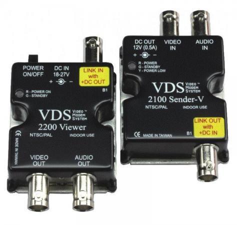 Комплект SC&T VDS 2100/2200 Передатчик VDS 2100 + Приемник VDS 2200 Передача по коаксиальному кабелю