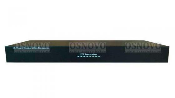 Приемопередатчик видеосигналов OSNOVO TP-C16 16-канальный по витой паре 600 м приемопередатчик видеосигналов osnovo tp c32 32 канальный по витой паре 600 м