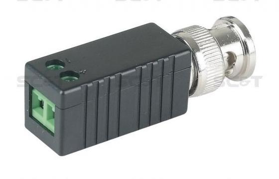 Приемопередатчик SC&T TTP111VE пассивный 1-канальный для передачи видеосигнала кабелю витой паре CAT