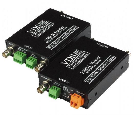 Комплект SC&T VDS 2700 (DC12V) Передатчик VDS 2700-R + Приемник VDS 2700-L Передача по одному коакси