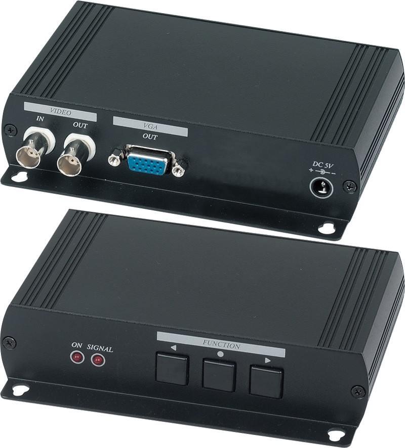 Конвертер SC&T AD001H2 для аналогового видеосигнала в VGA-сигнал конвертер sc