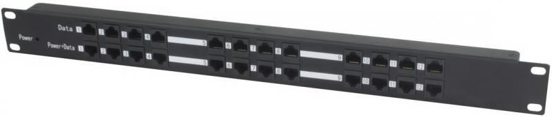 PoE-инжектор Osnovo Midspan-12/P пассивный на 12 портов пассивный комплект osnovo ppk 11 инжектор сплиттер для передачи poe по кабелю cat 5e