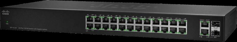 Коммутатор Cisco SG110-24HP-EU неуправляемый 24 порта 10/100/1000Mbps