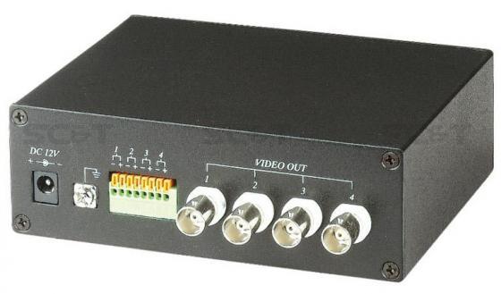 Приемник SC&T TTA414VR активный 4-х канальный приемник видео сигнала по витой паре futaba r2004gf приемник 4 канальный