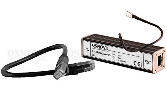 Устройство грозозащиты OSNOVO SP-IP/100(ver.2) для локальной вычислительной сети скорость до 100 Мб/ aileendoll rot ver 2 dangon